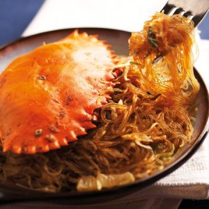 Fried crab tang hoon