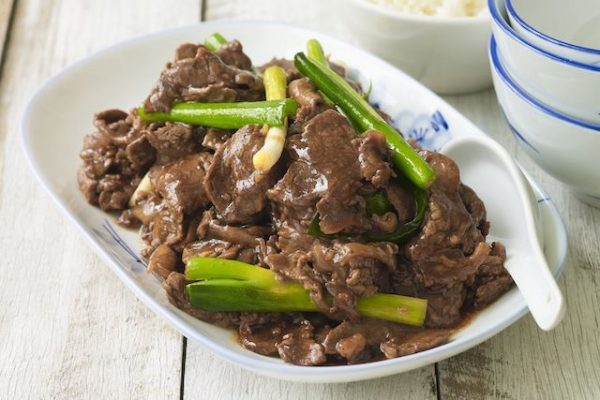 beef with spring onion
