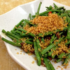 French Bean with Dried Shrimps